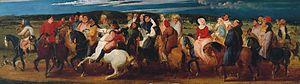 Thomas Stothard - Thomas Stothard, The Pilgrimage to Canterbury (1806–07, Tate Britain)