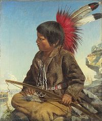 Indian Boy at Fort Snelling