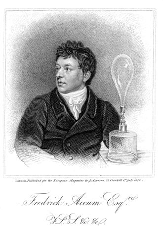Friedrich Accum - From the European Magazine (1820) engraving by James Thomson.