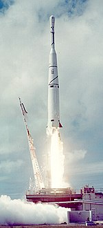 Launch of the Transit 1A satellite on a Thor-Able II