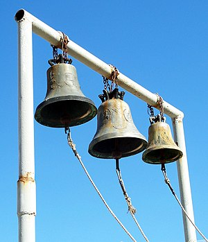 English: Three Bells somewhere in Athens, Gree...