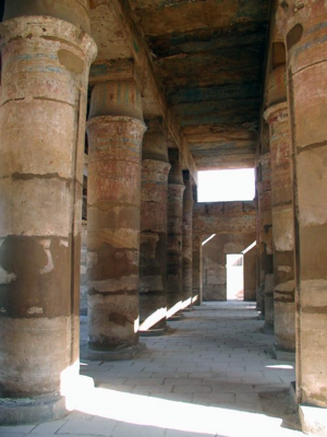 Festival Hall of Thutmose III - The Columns of the Festival Hall