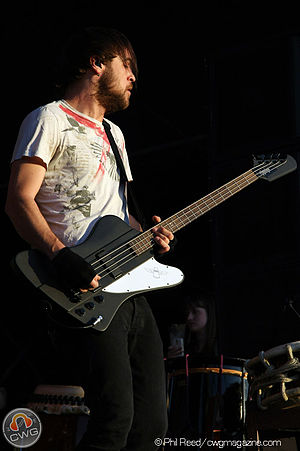 Tim Kelleher (musician) - Kelleher performing with Thirty Seconds to Mars in Fontana, California (October 2010)