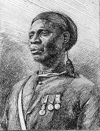 Senegalese Tirailleurs - Tirailleur from the Bambara people (Mali) (engraving, 1890)