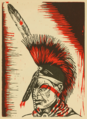 Todros Geller - From Land to Land - 1936 - Oklahoma Indian dancer - 0073.png