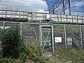 Tokaido Shinkansen maintenance workers stair - Shiroyama (Outbound line side).jpg