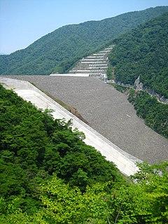 Tokuyama Dam dam in Ibigawa, Ibi District, Gifu Prefecture, Japan