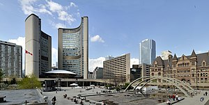 Nathan Phillips Square - View of square from south-west