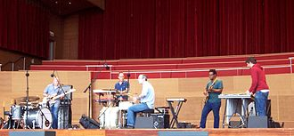 Tortoise (band) - Tortoise performing at the Pritzker Pavilion, Chicago (2008)