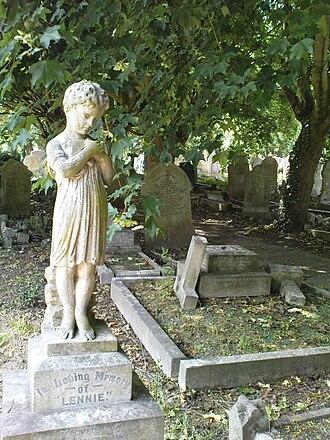 Tottenham Cemetery - A grave
