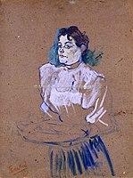 Toulouse-Lautrec - LA VENDEUSE DE FLEURS( recherche pour l'article Le plaisir à Paris.Les bals et le carnaval, Le Figaro Illustré, fév. 1894), 1894, MTL.167.jpg