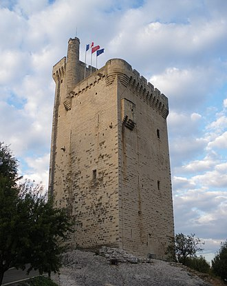 Tour Philippe-le-Bel - View of the tower from the southwest.