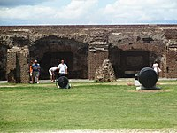 Tourists at Fort Sumter, SC IMG 4530
