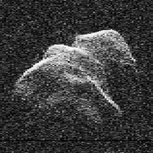 B612 Foundation - A radar image of the almost 2 km wide Asteroid 4179 Toutatis, one of many objects that could pose a severe catastrophic threat