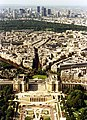 Towards Bois de Boulogne and La Defense from the Eiffel Tower.jpg