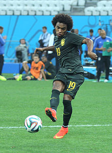 Training Brazilian national team before the match against Croatia at the FIFA World Cup 2014-06-11 (19).jpg