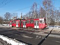 Tram 162 at Kopli tn 108 Kopli Tallinn 1 March 2016.jpg