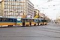 Tram in Sofia near Macedonia place 2012 PD 093.jpg