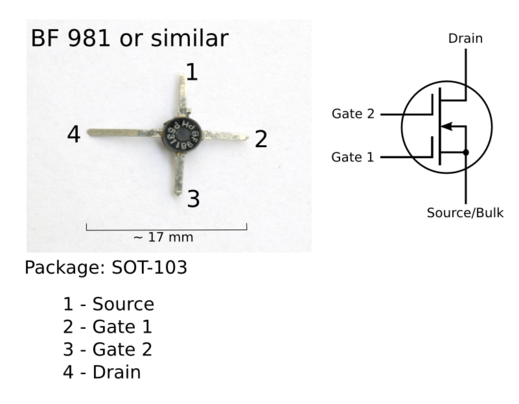 A dual-gate MOSFET and schematic symbol Transistor DG MOSFET 1.png