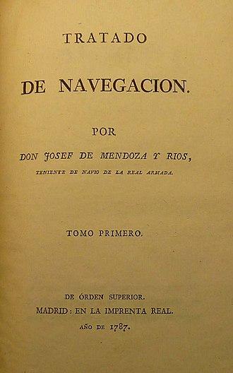 Josef de Mendoza y Ríos - Tratado de Navegacion. Tomo primero