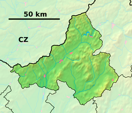 Trenčín Region - physical map.png