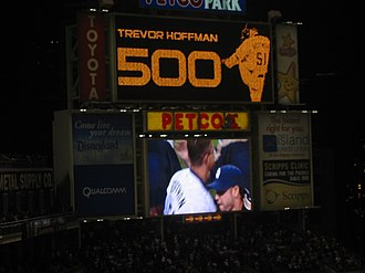 Trevor Hoffman - Hoffman was first major leaguer to reach 500 saves.