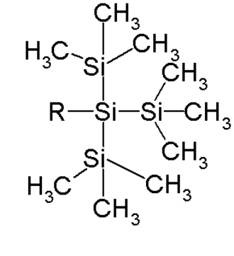 Trimethylsilyl - the Tri(trimethylsilyl)silyl group. Tris(trimethylsilyl)silane: R=H