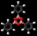 Triphenylboroxin 3D ball.png