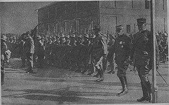 Allied Army of the Orient - Sarrail and Petitti di Roreto on the arrival of the Italian troops in Salonika