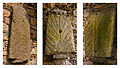 Tryptich of Rathdown Slabs at Old Rathmichael Church.jpg