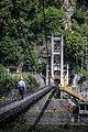 Tungmen Power Plant, Eastern Power Station, a man crossing the suspension bridge, Xiulin Township, Hualien (Taiwan).jpg