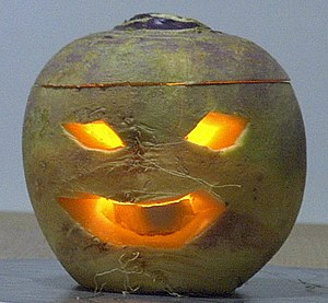 taken by me of a Jack-o'-lantern carved from a...