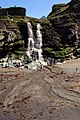 Twin cascade at Tintagel Haven - geograph.org.uk - 937381.jpg