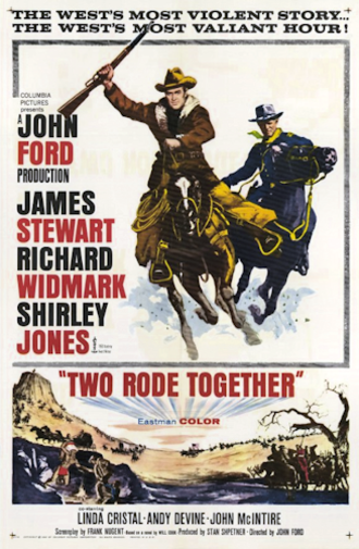Two Rode Together - 1961 film poster by Howard Terpning