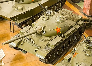 Type 62 - Chinese Type 62 light tank at the China People's Revolution Military Museum.