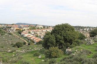 Tzur Hadassah - Image: Tzur Hadassa as seen from Khiebet Jurish
