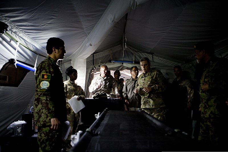 Mark A. Milley center right the commanding general of the International Security Assistance Force (ISAF) Joint Command views a medical tent during a trip ... & File:U.S. Army Lt. Gen. Mark A. Milley center right the ...