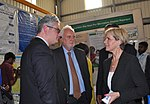 U.S. Consul General Zachary Harkenrider with Australian High Commissioner to Pakistan Peter Heyward and Australian Foreign Minister Julie Bishop at the inauguration (17208799217).jpg