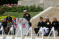 U.S. Marine Corps Col. Roger Turner, at lectern, the commanding officer of the 5th Marine Regiment, addresses U.S. Marines, French service members and guests during a Memorial Day ceremony May 26, 2013, at 130526-M-XI134-007.jpg