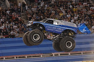 Monster truck - The U.S. Air Force-themed Afterburner performing at the Monster Jam World Finals in Las Vegas in March 2008