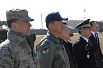 USAF photo 100318-F-8160C-031, Col. Robert Givens, 8th Fighter Wing commander, Col. Choi, Jae Hun, 38th Fighter Group commander, Mr. Wan-ju Kim, Governor of Jeonbuk Province and Mr. Son, Chang Wan, chief of Jeonbuk Provincial Police.jpg