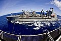 USNS Walter S. Diehl sailing next to the aircraft carrier USS George Washington.jpg