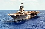 USS Independence (CV-62) underway in the Atlantic Ocean on 4 May 1979.jpeg