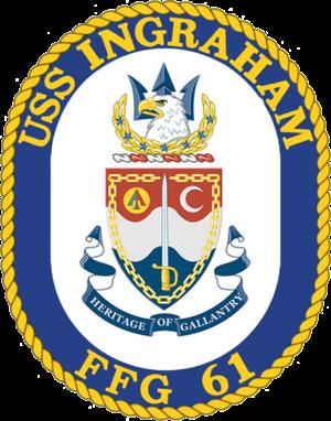 USS Ingraham (FFG-61) - Image: USS Ingraham (FFG 61) insignia, 1989