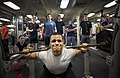 USS Nimitz holds a weightlifting competition. (10350108455).jpg