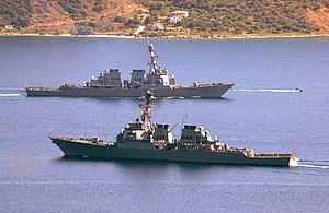 Destroyer Squadron 28 - USS Ramage and USS Ross in 2004