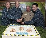 USS Ronald Reagan celebrates the chief petty officer rank's 123rd anniversary. (26143577146).jpg