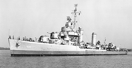 "USS Shubrick earned a Ranger's praise: ""It's pretty accurate work when a destroyer some 2 or 3 miles offshore knocks out three tanks some 7 or 8 miles inland."" USS Shubrick (DD-639) 0563902.jpg"