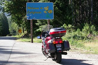 U.S. Route 199 - US 199 southbound at the California-Oregon state line
