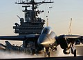 US Navy 050124-N-4308O-081 An F-14B Tomcat assigned to the Swordsmen of Fighter Squadron Three Two (VF-32) launches off one of the four steam-powered catapults aboard the Nimitz-class aircraft carrier USS Harry S. Truman (CVN 7.jpg